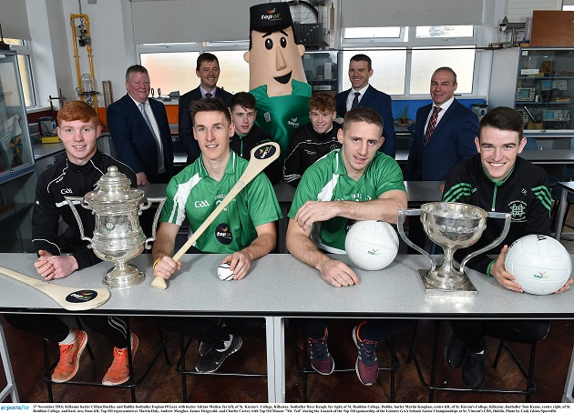 Launch of the Top Oil sponsorship of the Leinster GAA Schools Senior Championships