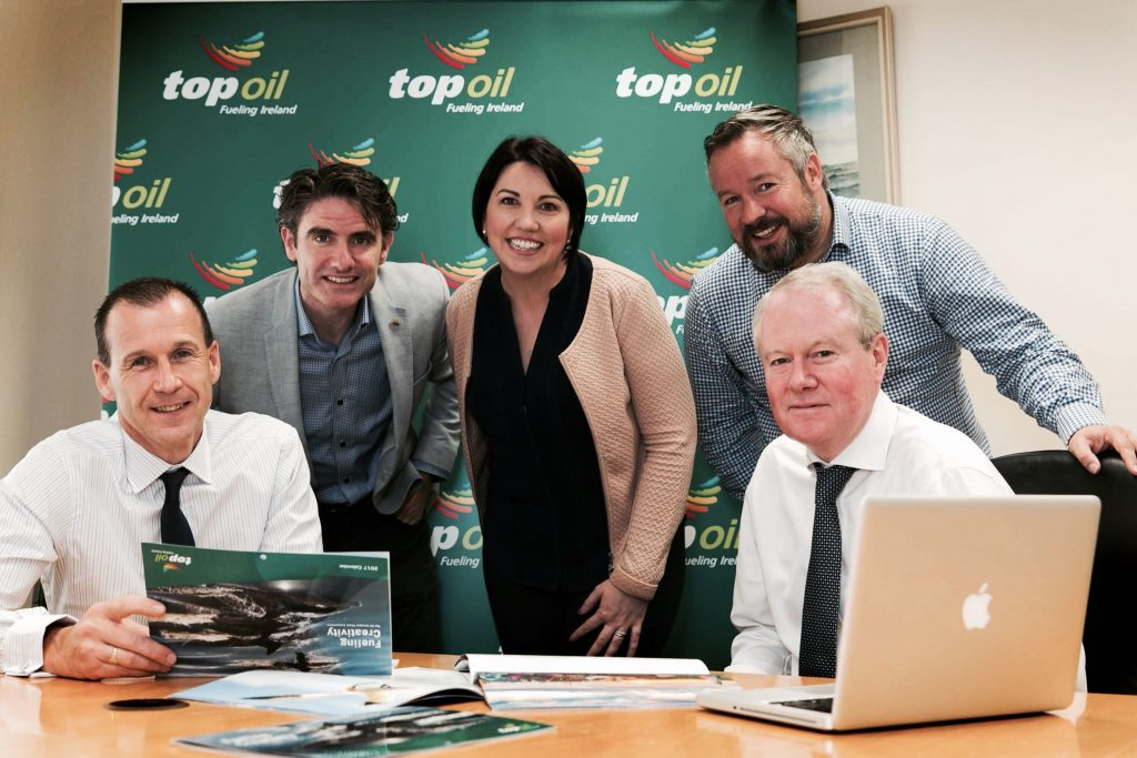 The Judges for this year's Top Oil Amateur Photography competition. From left to right: Gerard Boylan, Shane O'Neill, Iris Kavanagh Jonathan Forrest and Colin Culliton.